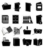 Documents icons set Stock Photos