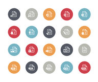 Documents Icons - Set 1 of 2 // Classics. Vector icons set for your web or presentation projects Stock Photography