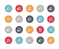 Documents Icons - Set 2 of 2 // Classics Royalty Free Stock Photos