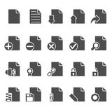 Documents Icons Set Stock Photo