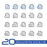 Documents Icons - Set 1 of 2 // Line Series. Vector icons set for your web or presentation projects. EPS 10 Royalty Free Stock Photos