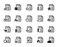 Documents Icons Vector Stock Image