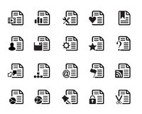 Documents Icons Vector. Web Icons vector illustrator, available in jpeg and eps formats, to modify this file editing software such as Adobe Illustrator, Freehand Stock Photos