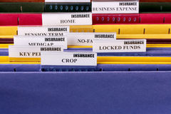 documents mappar Royaltyfria Foton