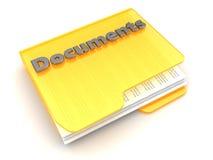 documents mappen Royaltyfri Fotografi