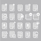 Documents note icons set Royalty Free Stock Photography