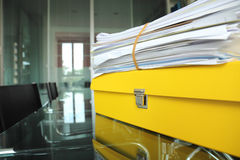 Documents in office Stock Photos