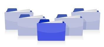 Documents organized concept Stock Image