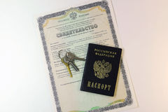 Documents: passport of the citizen of the Russian Federation and Royalty Free Stock Photos