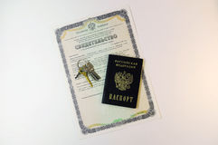 Documents: passport of the citizen of the Russian Federation and Stock Photography