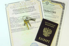Documents: passport of the citizen of the Russian Federation and Stock Photo