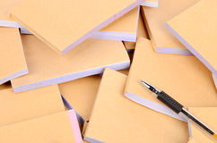 Documents and pen Stock Images