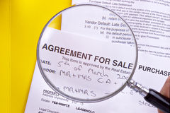 Documents Real Estate Study the Contract Stock Photography