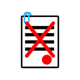 Documents reject icon sign. Office symbol. contract sheet with r Stock Photo