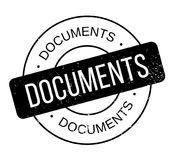 Documents rubber stamp Royalty Free Stock Image