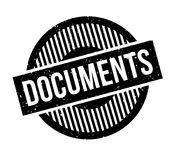 Documents rubber stamp Royalty Free Stock Photos