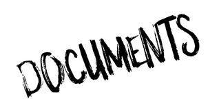 Documents rubber stamp Stock Images