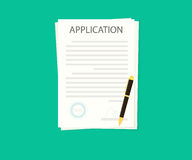 Documents with stamp and pen. Loan application Stock Photography