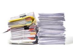 documents sur le fond blanc photo stock