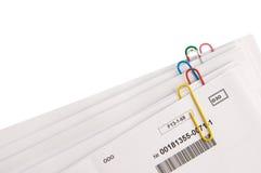 Documents sur papier avec des clips Photographie stock libre de droits