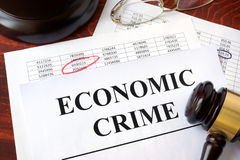 Documents with title Economic crime. royalty free stock photos