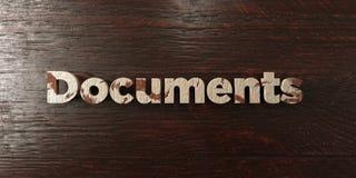 Documents - titre en bois sale sur l'érable - image courante gratuite de redevance rendue par 3D Photo stock