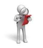 documents tätt undersökande magnifyer Arkivfoton