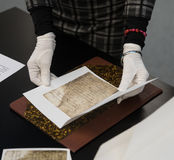 Documents of Ukrainian Cossacks stored in State Archive of Swede Stock Photography