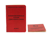 Documents of the USSR Stock Photo