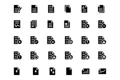 Documents Vector Icons 1. A neat collection of document icons that you can easily integrate in your design and the cool thing is, that there are so many of them Stock Image