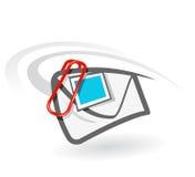 doczepianie email Obraz Stock