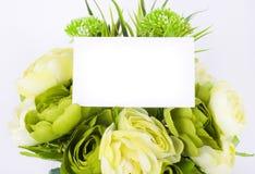 dodaje sztandaru kwiatów wiosna Zdjęcie Stock