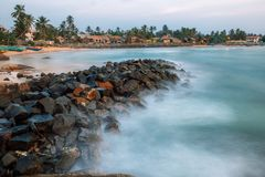 Dodanduwa-Hafen, Sri Lanka Stockfotografie