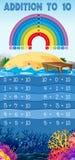 Dodatek 10 plakatów plażowy temat royalty ilustracja