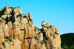 Dodatek specjalny Kształtujący kamień na Dongtou wyspy okręgu administracyjnym fotografia royalty free