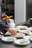 Dodatków specjalnych dotyki szefem kuchni Zdjęcia Royalty Free