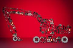 Dodatkowe części dla ciężarówki lub ekskawatoru Zdjęcie Royalty Free