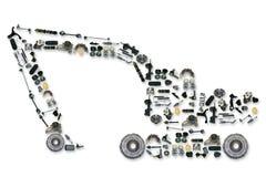 Dodatkowe części dla ciężarówki lub ekskawatoru Zdjęcia Royalty Free