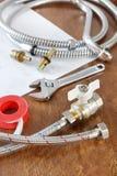 Dodatkowe części i pracujący narzędzia dla dostawy wody Obraz Stock