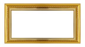dodatkowej adobe eps formata ramy złocisty ilustrator zawiera Odizolowywający na bielu Zdjęcie Stock