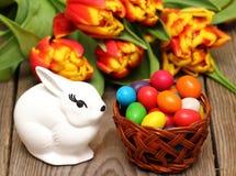 dodatkowy koszykowy Easter jajek eps kwiatów format Obraz Stock