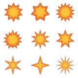 8 dodatkowy książkowy komiczki eps wybuchu formata ilustratora wektor Zdjęcie Royalty Free