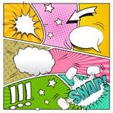 8 dodatkowy tła książki komiczki eps formata ilustrator Obrazy Stock