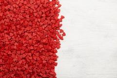 dodatku tła serc matematycznie czerwony prosty zadania biel Odgórny widok, kopii przestrzeń Fotografia Royalty Free