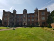 Doddington Hall, 16th århundradehus i England, UK royaltyfria foton
