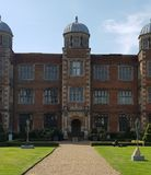 Doddington Hall, 16th århundradehus i England, UK fotografering för bildbyråer