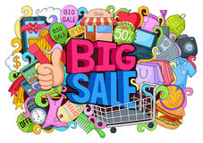Doddle of Big Sale Poster Stock Photography
