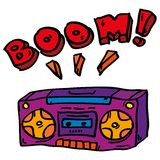 Doddle boombox Royalty Free Stock Images