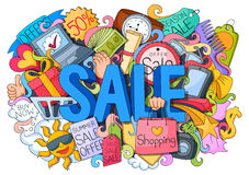 Doddle of Sale Poster Royalty Free Stock Images