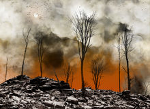 Na apocalyps Stock Afbeelding